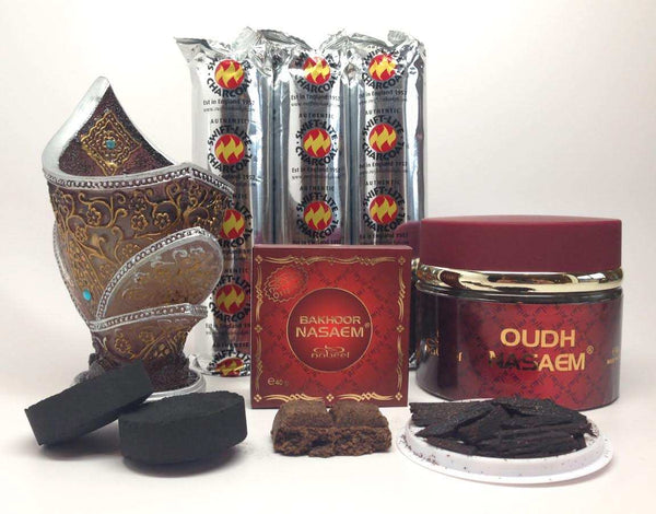 NASAEM OUDH AND BAKHOOR Incense Gift Set by Nabeel