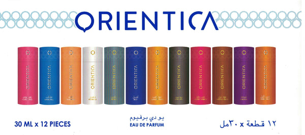 Assorted 30ml Spray Perfume by Orientica - Set of 12