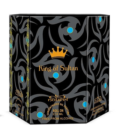 King of Sultan - Box 6 x 6ml Roll-on Perfume Oil by Nabeel