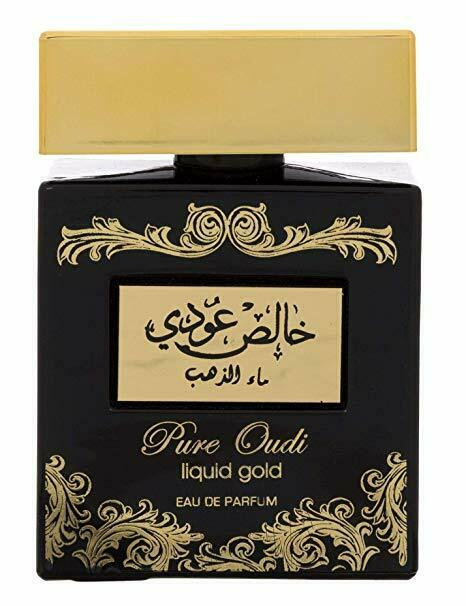 Pure Oudi Liquid Gold - Eau De Parfum Spray (100 ml - 3.4Fl oz) by Lattafa