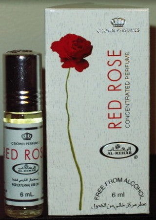Red Rose - 6ml (.2oz) Roll-on Perfume Oil by Al-Rehab (Box of 6)