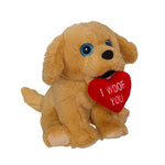 Valentine Golden Retriever Mini Plush