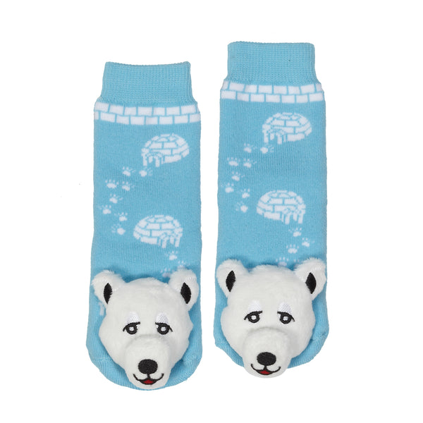 Messy Moose Socks, Polar Bear