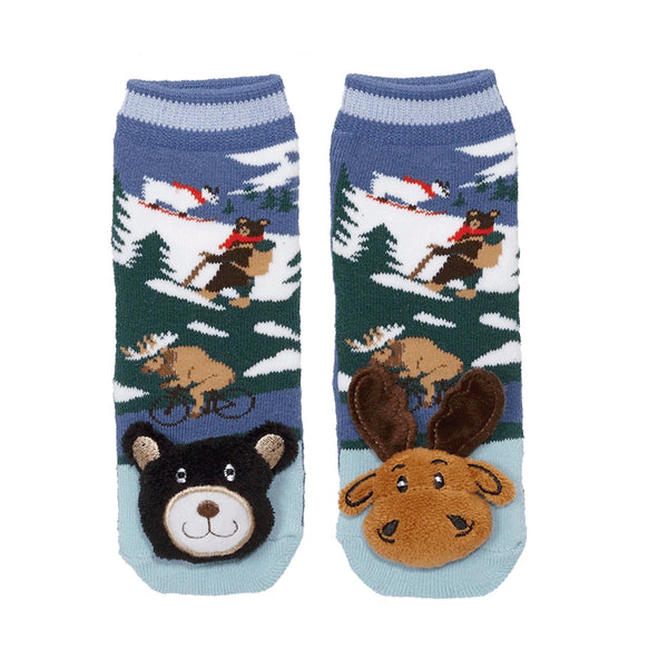 Messy Moose Socks, Mismatch Mountain Moose and Black Bear