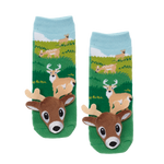 Messy Moose Socks, White Tail Deer