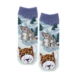 Messy Moose Socks, Snow Leopard