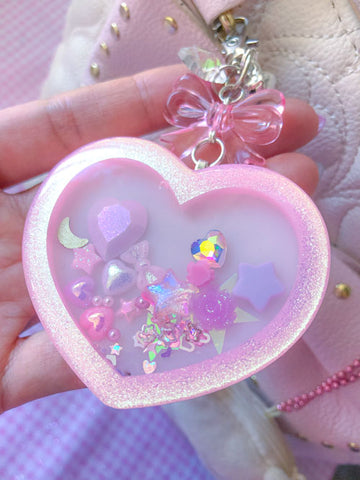 Pink Heart Shaker Charm