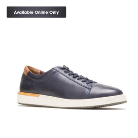HUSH PUPPIES HEATH SNEAKER - NAVY LEATHER