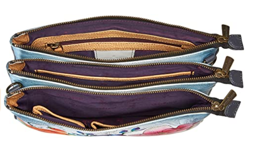 ANUSCHKA TRIPLE COMPARTMENT CROSSBODY 570-FFY