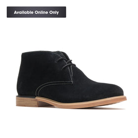 HUSH PUPPIES BAILEY CHUKKA BOOT - BLACK SUEDE
