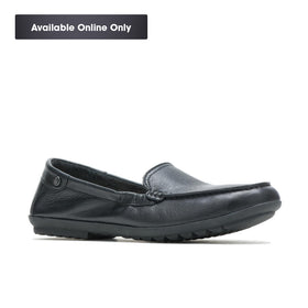 HUSH PUPPIES AIDI MOCC SLIPON - BLACK LEATHER