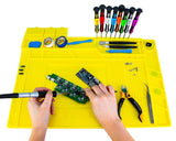 Anti-Static Magnetic Silicone Mat with Tool Kit and Grounding Wire