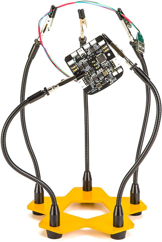 Third Hand Soldering Tool - Five Flexible Metal Arms