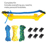 KOTTO Paracord Jig Bracelet Kit, Adjustable Length Paracord Bracelet Maker Kit Metal Weaving DIY Craft Paracord Tools