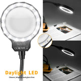 Third Hand Soldering Tool - Magnifier, LED Light, Four Flexible Metal Arms