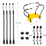 Third Hand Soldering Tool - Four Flexible Metal Arms - Crescent Base