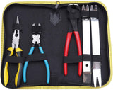 KOTTO Multipurpose Diagonal Cutting Pliers Seal Puller Car Push Retainer Rivet Trim Clip Pry Puller Clips Panel Assortments Nail Puller Tool Kit