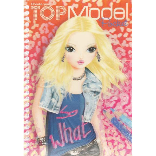 Top Model 3D Colouring Book