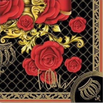 Duni Black Rose Tissue Serviette
