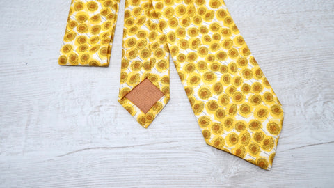 Liberty Xanthe Sunflowers Mens Tie