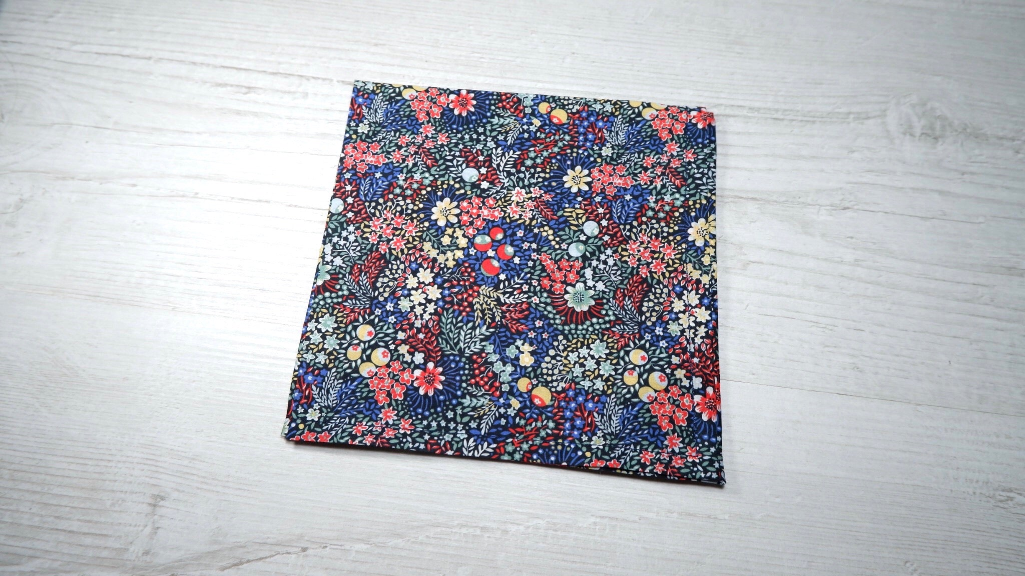 Liberty Elderberry Red Pocket Square