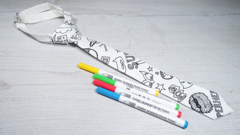 Superhero 'Colour Me In' Boys Tie