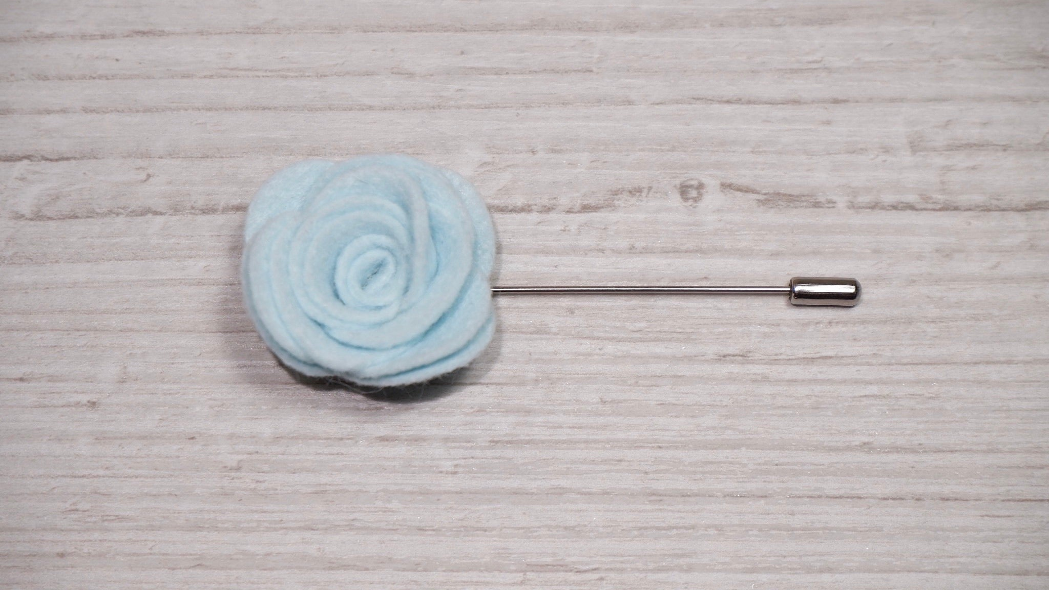 Baby Blue Felt Flower Lapel Pin