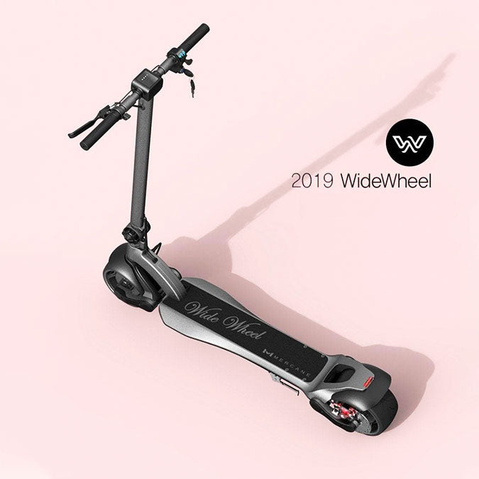 2019 Mercane Wide Wheel electric scooter angle