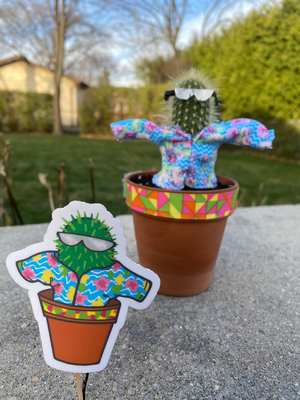Alloy the Cactus Sticker