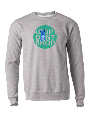 Adopt Dont Shop Crewneck Sweater (Blue Tater)