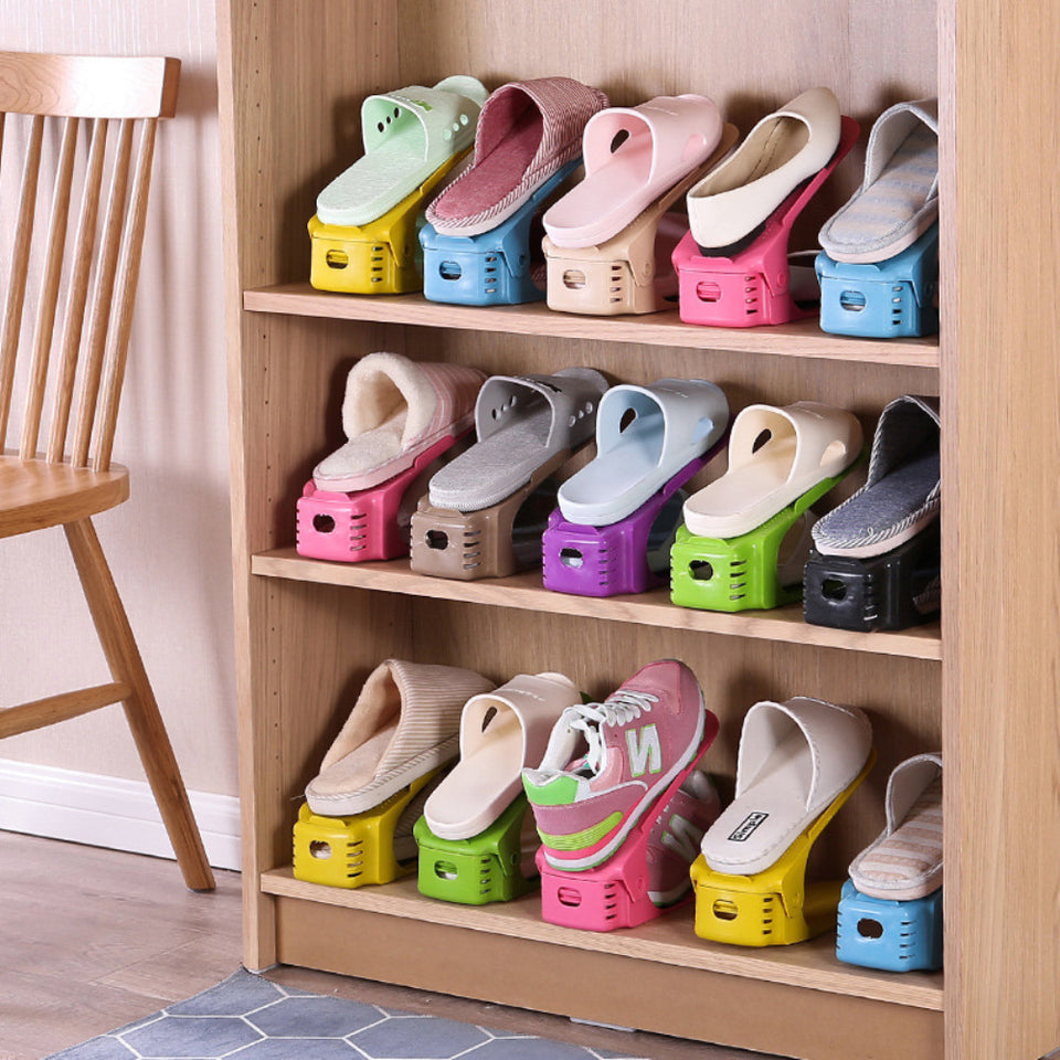 Two Level Shoe Rack