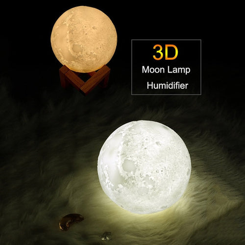 3D Moon Lamp Air Humidifier (880 ml/ 29 oz) - topnova