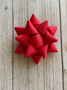 Red Christmas Gift Hairbow