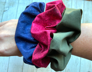 Fall Solid Scrunchies