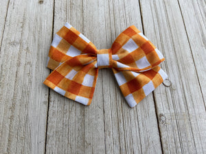 Grace Orange Plaid