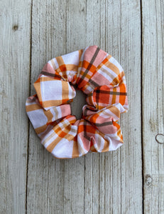 Multi Plaid Scrunchie