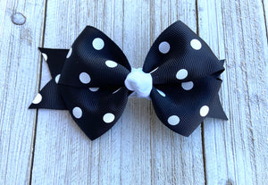 Black & White Polka Dot Sweetpea