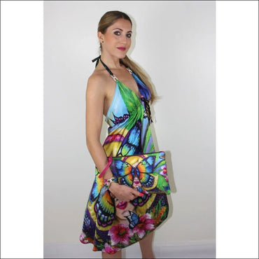 Butterfly silk dress - Dresses
