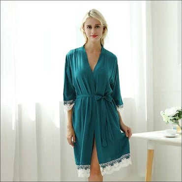 Cotton Lace Night-robe Home - Lingerie & Sleep
