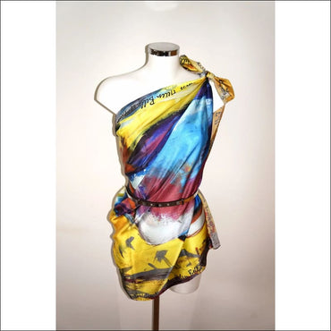 Helen summer feeling 100% silk scarf 130x90 cm - Silk