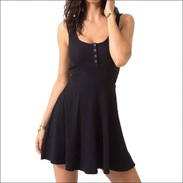 High Waist Mini Casual Nightdress - S / Black - Lingerie &