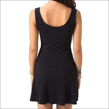 High Waist Mini Casual Nightdress - XL / Black - Lingerie &