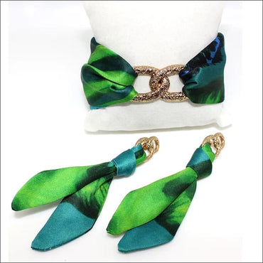 Jungle Leopard Tie Earring & Bracelet - Set & Combination
