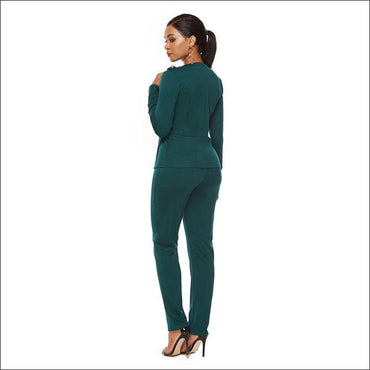 Long-sleeve Single-breasted Suit Set - Sets Co-ords