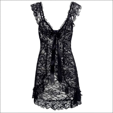 Nightgown And Panties Nightwear Sets - S / Black - Lingerie