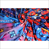 Poppy silk scarf 110x110 cmmedium