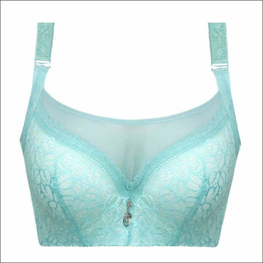 Push-up Sexy Lace Ultra-thin Bra - 80C / Lt.Green - Lingerie