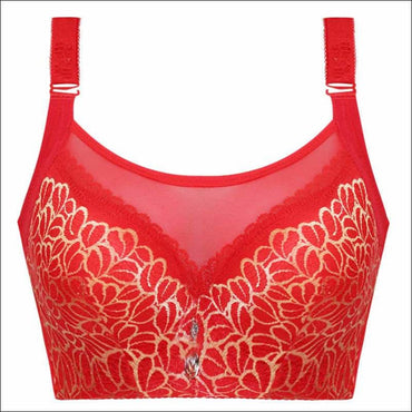 Push-up Sexy Lace Ultra-thin Bra - 80C / Red - Lingerie &