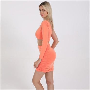 Sexy Hollow Design With Solid Color One Shoulder Tight Dress