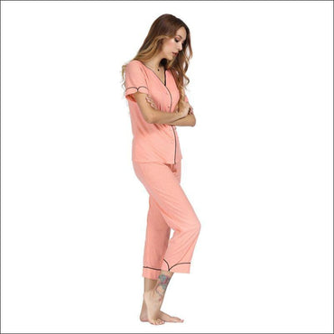 Short-sleeve Sweet Casual Pajama Set370x